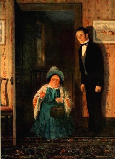 Charles Dickens – David Copperfiel, Miss Mowcher, ilustración de Frank Reynolds (1911)