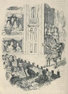 Charles Dickens - Memoirs of Joseph Grimaldi, ilustración de George Cruikshank (1853)