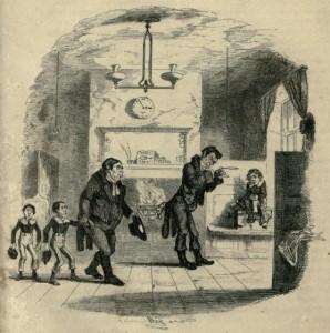 Charles Dickens – Nicholas Nickleby, ilustración de Phiz (1839)