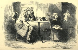 Charles Dickens – Our mutual friend, ilustración de Marcus Stone (1865)