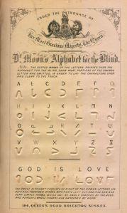 Alfabeto Moon para ciegos (1877)