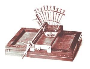 El «Raphigraphe» diseñado por Louis Braille en 1839