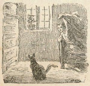 Hans Christian Andersen - Krøblingen, ilustración de Lorenz Frølich (1872)