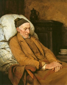 Albert Anker - Die Andacht des Grossvaters (detalle, 1893)