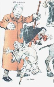 Manuel Tovar - Caricatura de Benito Pérez Galdós (1902)