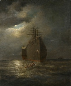 Henry Clifford - Bow view of the steamship Great Eastern (188?)