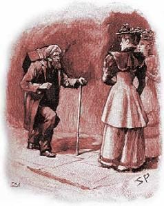 Arthur Conan Doyle - The Adventure of the crooked man, ilustración de Sidney Paget (1893)
