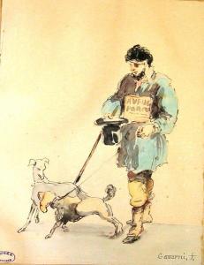 Paul Gavarni - Un mendigo ciego (S. XIX)
