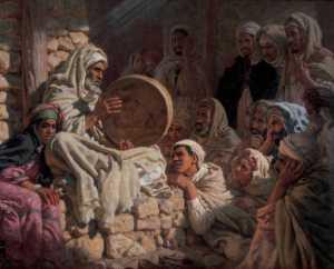 Nasreddine Dinet – Mendigo ciego cantando la epopeya del profeta (192?)