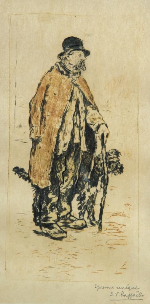 Jean-François Raffaelli – Le Vieillard et son chien (S. XIX)