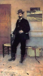 Retrato de Santiago Rusiñol por Ramon Casas i Carbó (189?)