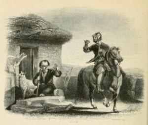 Walter Scott - The Black Dwarf, ilustración de W. Allan (1843)