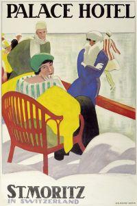 Émile Cardinaux – Cartel de 1936 para el Palace Hotel de St. Moritz (Valle de Engadina, Suiza)