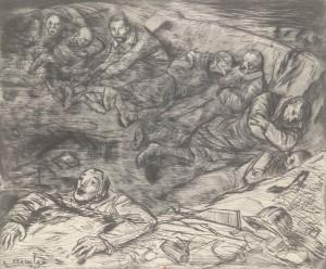 Théophile-Alexandre Steinlen – Nid de blessés (1917)