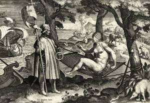 Jan Galle - Americae Retectio (1615)