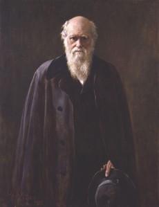 John Collier - Retrato de Charles Darwin (1883)