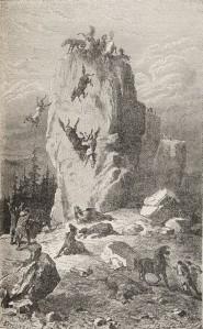 Adrien Arcelin - Solutré, o Los Cazadores de renos de la Francia del centro (1872)
