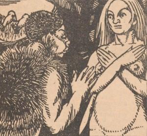 Renée Dunan – Le Métal, histoire d'il y a vingt mille ans, ilustración de Henry Chapront (1920)