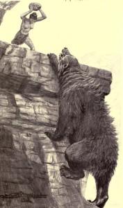 Ashton Hilliers – The Master-Girl. A Romance, ilustración de Arthur H. Buckland (1910)