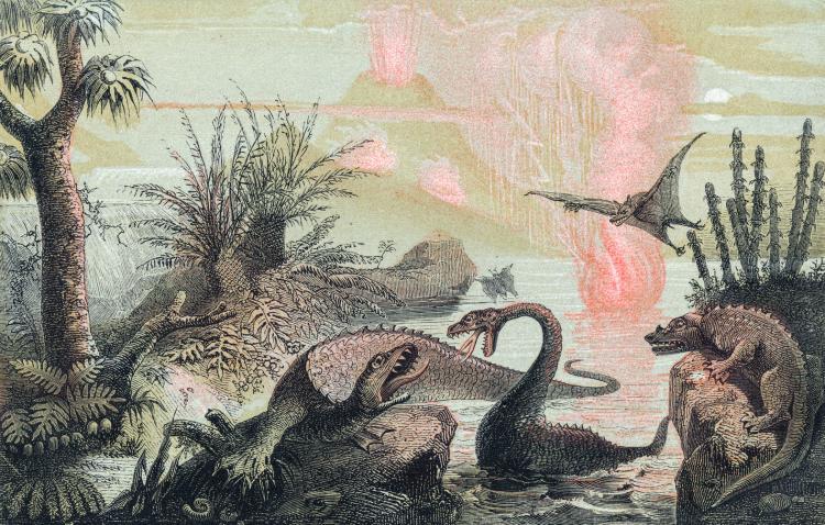 Adolphe François Pannemaker - The Primitive World (1857)
