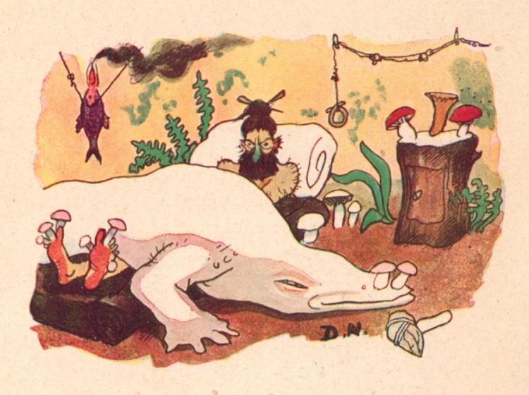 Gaston de Pawlowski - Le Secret des fouilles de Glozel, ilustración de Pierre Delarue-Nouvellière (1928)