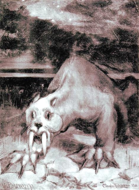 Charles Douglas Richardson – The Bunyip (1900) - El Bunyip es una criatura del folclore mitológico australiano.