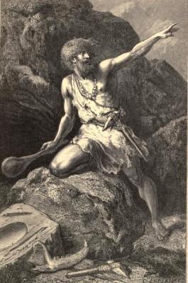 Louis Figuier – Primitive Man, ilustración de Émile Bayard (1870)