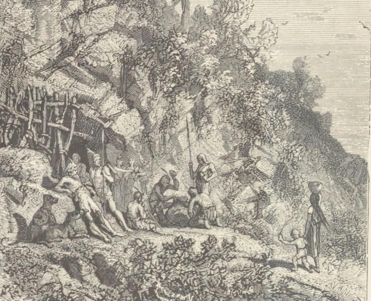 Samuel-Henri Berthoud – L'Homme depuis cinq mille ans, ilustración de Yan' Dargent (1865)