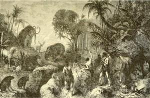 Louis Figuier – La Terre avant le déluge, ilustración de Édouard Riou (1874)