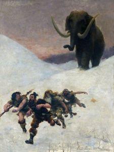 Paul Jamin – La Fuite devant le mammouth (1885)
