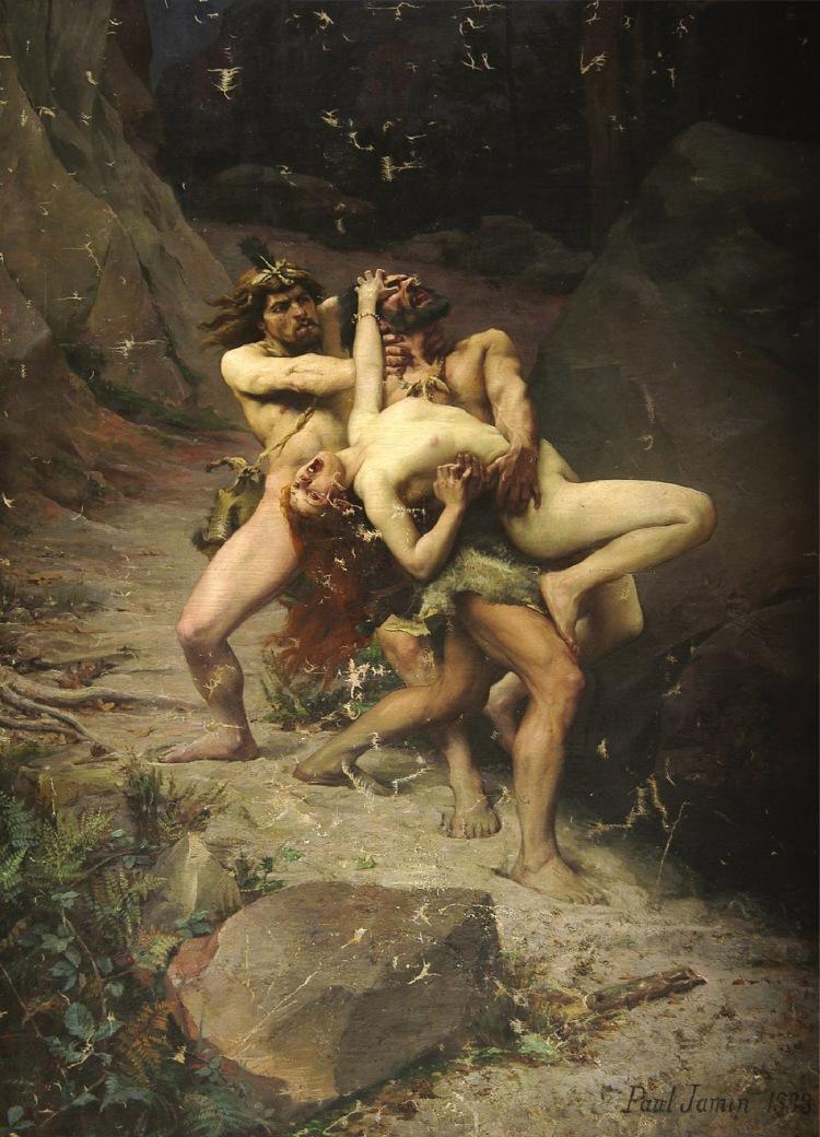 Paul Jamin - Rapt à l'âge de pierre (1888)