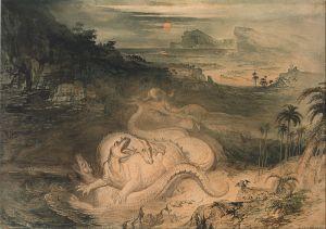 John Martin - The Country of the Iguanodon (1837)