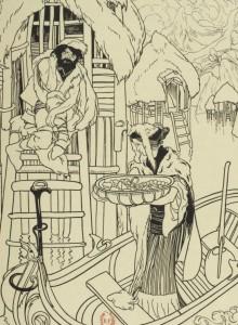 Marcel Schwob – La Vendeuse d'ambre, ilustración de Georges de Feure (1899)