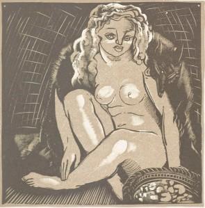 Marcel Schwob – La Vendeuse d'ambre, ilustración de Fernand Siméon (1925)