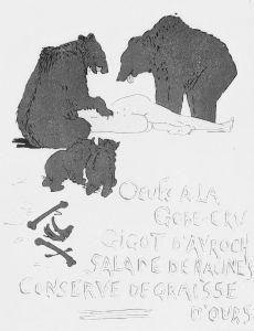 Carlègle - Les Menus à travers les âges (1908) - Carlègle (pseudónimo de Charles Émile Egli, 1877-1937) fue un pintor, ilustrador y caricaturista suizo