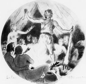 Armand Vallée - Le Réveillon à travers les âges (1932) - Armand Vallée (1884-1960) fue un pintor, ilustrador, dibujante de moda, humorista francés