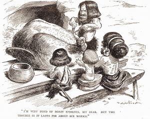 T.S. Sullivant - «I'm very fond of roast epiornis...»