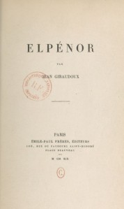 Jean Giraudoux - Elpénor (1925)
