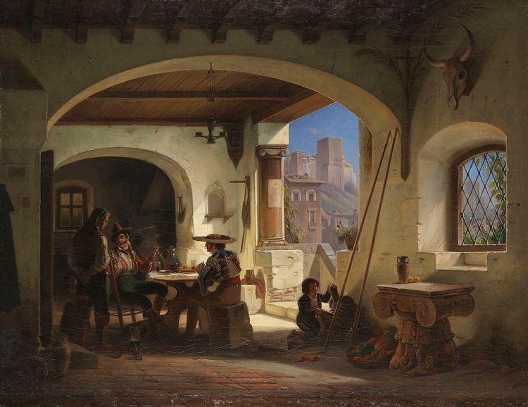 Wilhelm Gail - Picadores en una taberna española (1842)