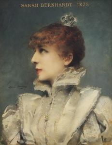 Sarah Bernhardt, por Louise Abbéma (1875)