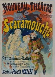 Jules Chéret – Cartel para «Scaramouche», ballet-pantomima de Maurice Lefevre y Henri Vuagneux, con música de André Messager y Georges Street (1890)