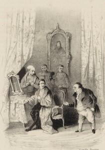 Alexandre Dumas – Kean, ilustración de Camille Rogier (1836)