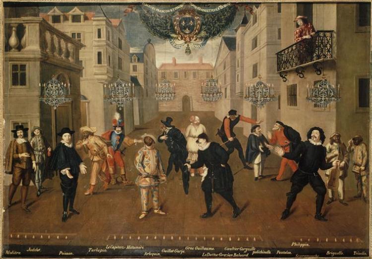 Anónimo – Farceurs français et italiens (1670)