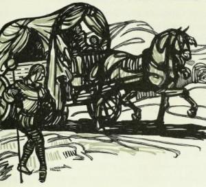 Joseph Arthur de Gobineau – Scaramouche, ilustración de Maxime Dethomas (1922)