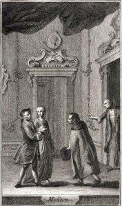 Carlo Goldoni – Il Moliere, ilustración de Pietro Antonio Novelli, grabado de Antonio Baratta (1761)