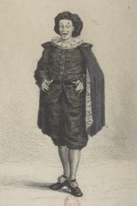 Emmanuel Gonzalès – Les Caravanes de Scaramouche, ilustración de Henri Guérard (1881)
