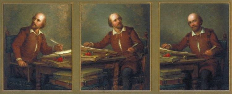 George Henry Hall – Shakespeare componiendo con la mirada hacia afuera (1894)