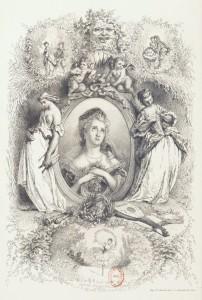 Arsène Houssaye - Princesses de comédie et déesses d'opéra, ilustración de Léopold Flameng (1860)