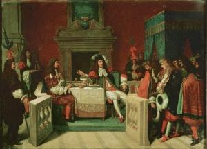Jean Auguste Dominique Ingres – Luis XIV y Molière almorzando en Versalles (1837)
