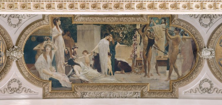 Gustav Klimt – El Carro de Tespis (1886)